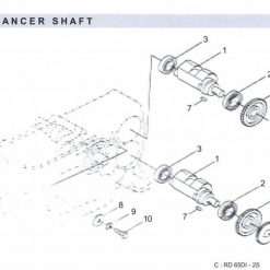 Balancer Shaft RD 45 - 55 - 65