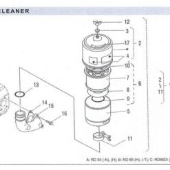 Air Cleaner RD 45 - 55 - 65