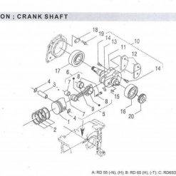 Crank Shaft RD 45-55-65