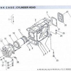 Cylinder Head RD 45-55-65