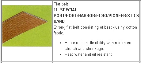 11 Jenis V belt Mesin Pertanian
