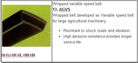 13 Jenis V belt Mesin Pertanian