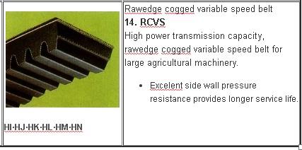 14 Jenis V belt Mesin Pertanian