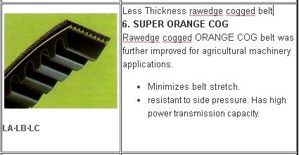 6 Jenis V belt Mesin Pertanian